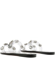 Slide Clear Metallic Balls White