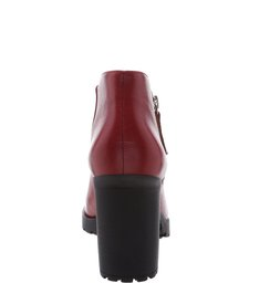 Short Ankle Boot Red Brown
