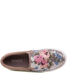 Slip On Flowers Oyster