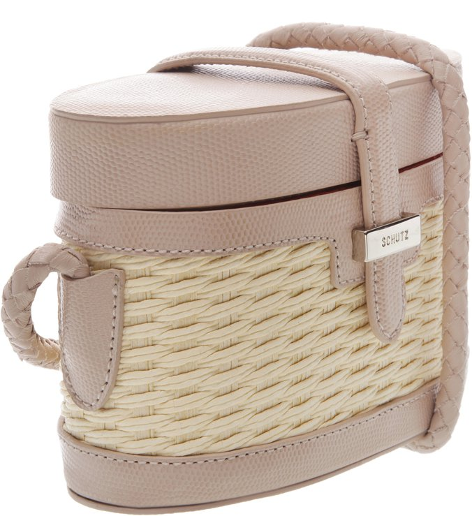 Mini Box Bag Trama Neutral