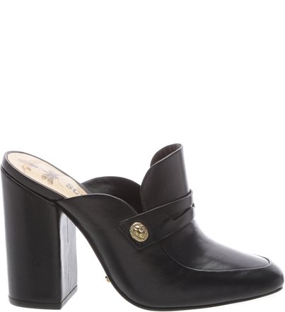 Block Heel Mule Black