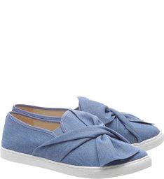 Slip On Lace Light Blue