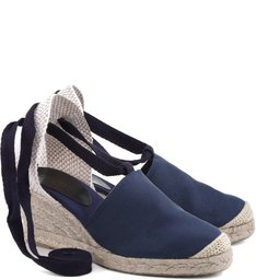Espadrille Lace Up Navy