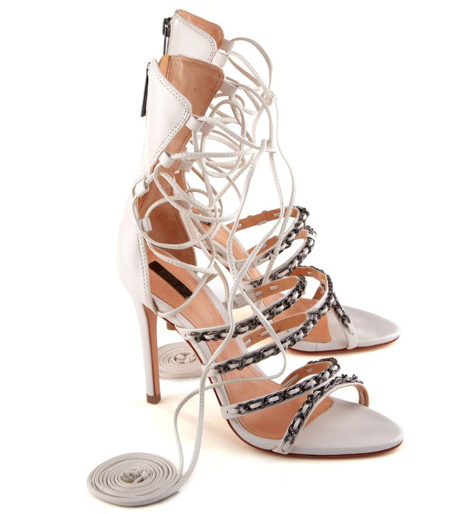 Sandália Amarração Branca
