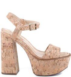 Sandália Bell Heel Cortiça