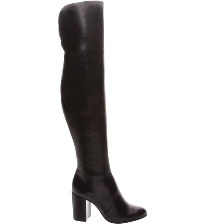 Bota Over The Knee Salto Médio Black | Schutz