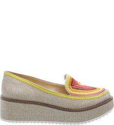 Slip On Flatform Rustic Natural