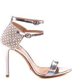 Sandália Double Strap Silver