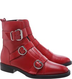 Coturno Buckle Straps Red