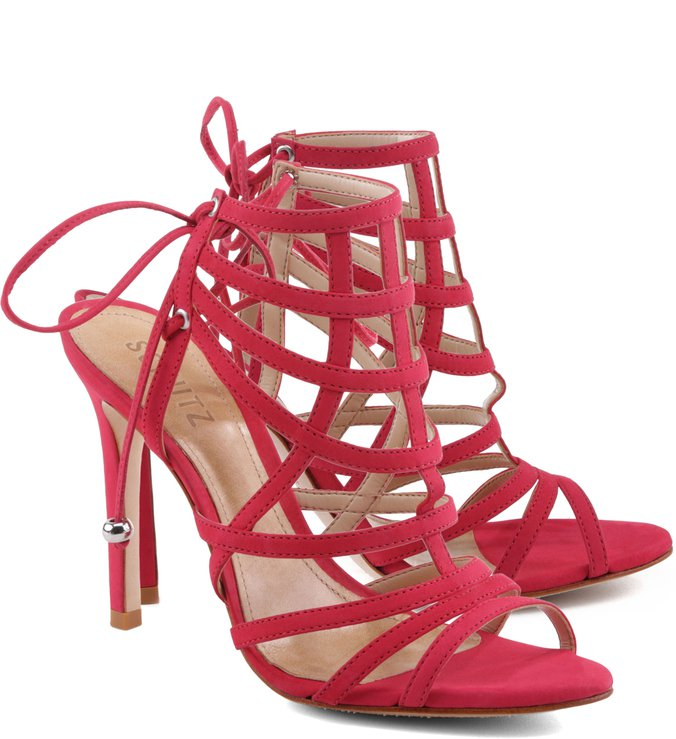 Sandália Lace Up Hot Pink