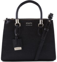 Mini Tote Lorena Lizard Black