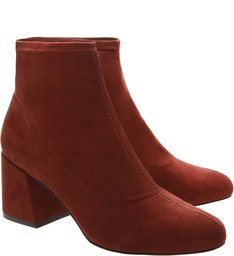Sock Boot Suede Red