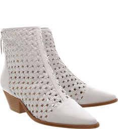 New Western Boot Trama White