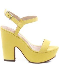 Plataforma Recortada Veludo Vibrant Yellow