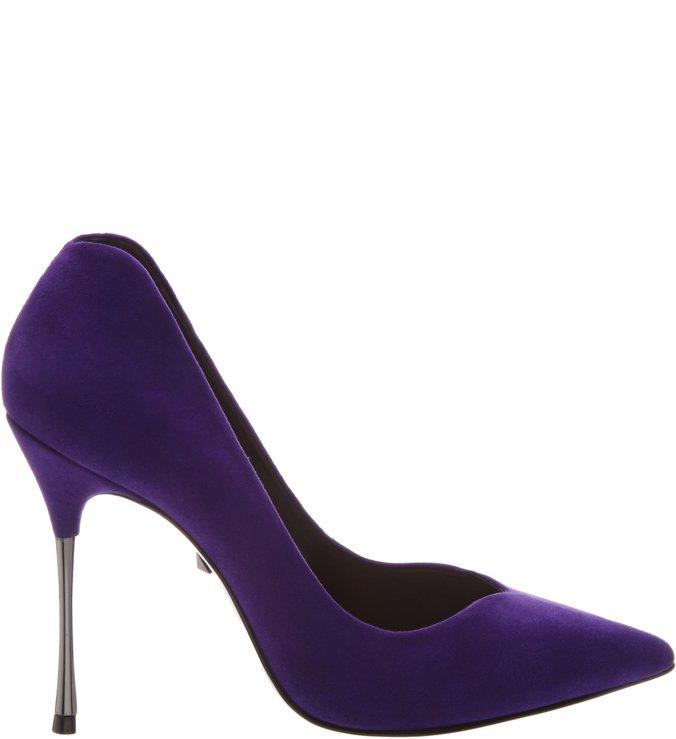 Scarpin Metallic Heel Purple