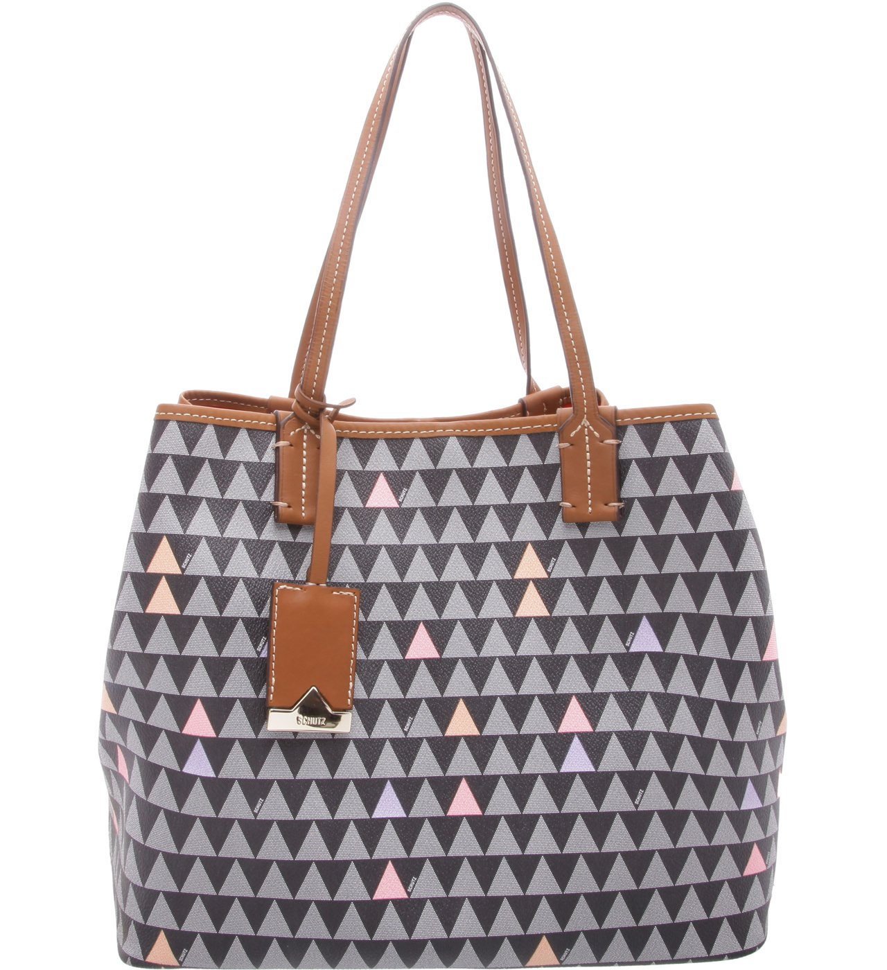 Tote Nina Triangle Black- Personalização Bag Charm