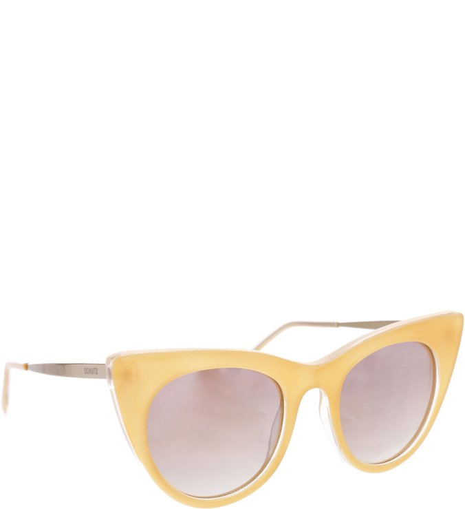 Sunglasses Cateye Beige
