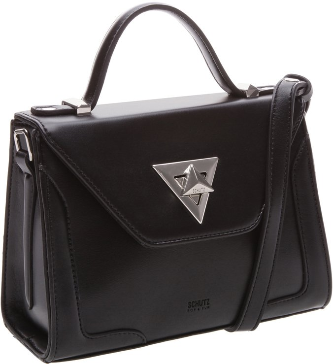 Crossbody Handbag Geometrical Black