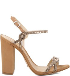 Sandália Cristals Block Heel Desert