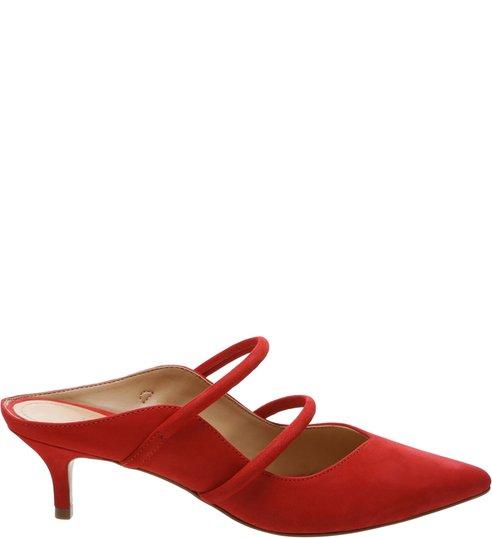 Mule Kitten Heel S-GIRLIE Red