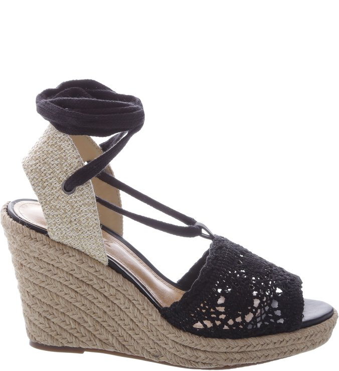 Wedge Crochê Black