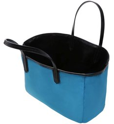SHOPPING BAG DOUBLE SIDE NYLON BLACK