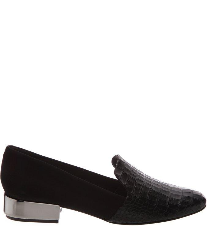 Slipper Croco Black
