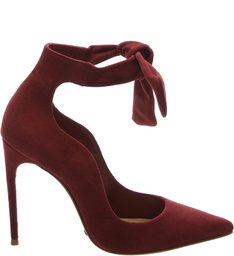 Scarpin Lace Up Red Wine
