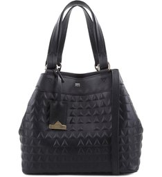 MINI TOTE EMA TRIANGLE BLACK