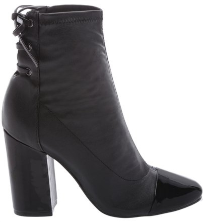 Ankle Boots Strech Double Black