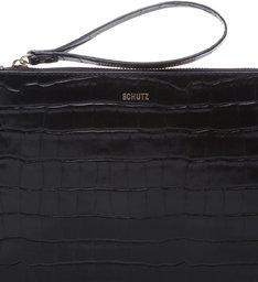 Clutch Bright Croco Black
