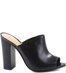 Mule Block Heel Black