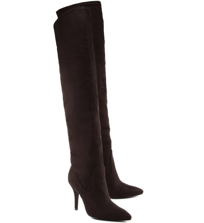 Over The Knee Suede Black