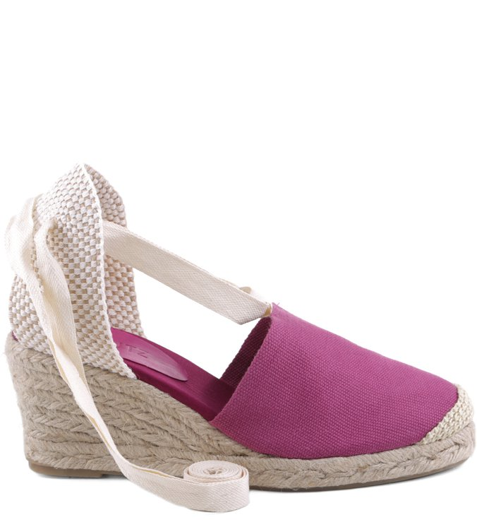 Espadrille Lace Up Pink