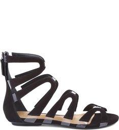 Vinil Flat Sandals Black