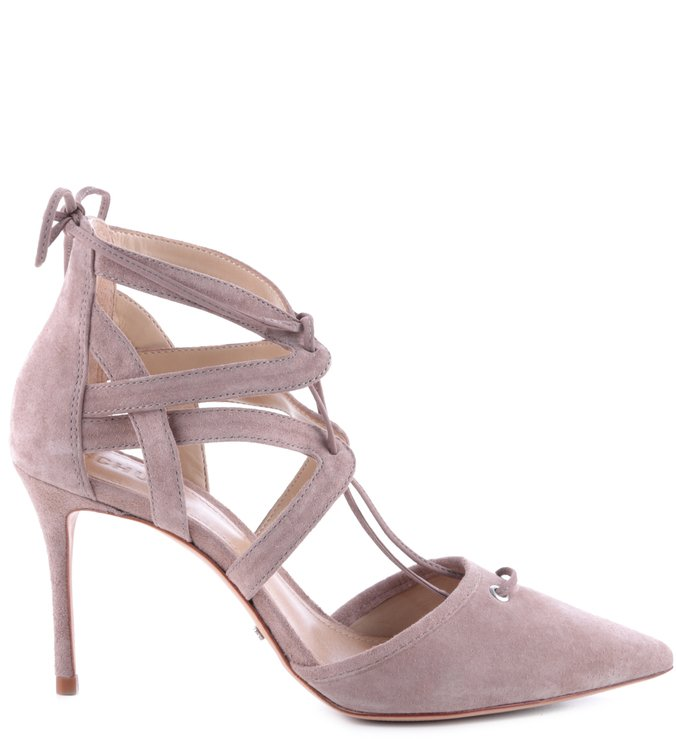 Scarpin Lace Up Neutral