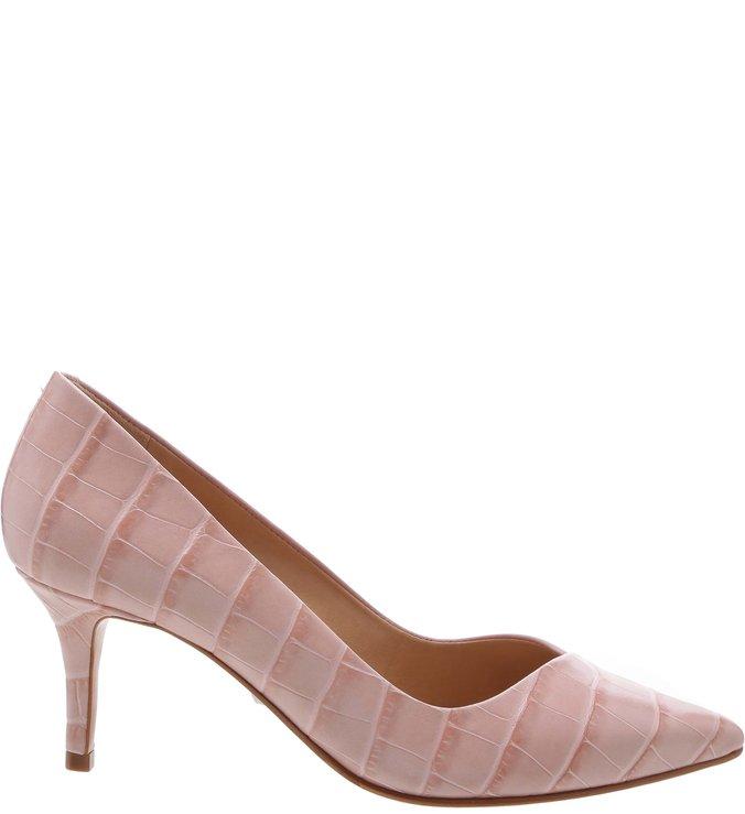 Scarpin Mid Heel Croco Rose | Schutz