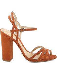 Sandália Block Heel Rust