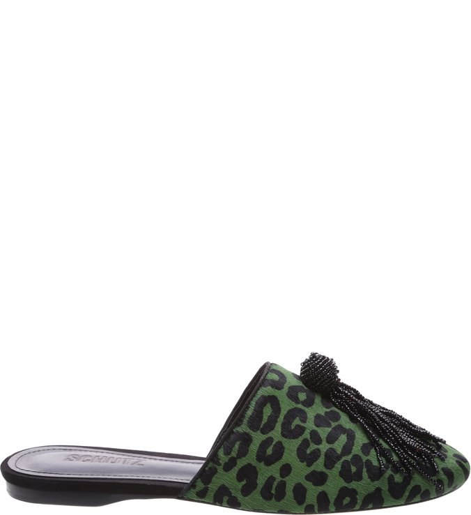 Mule Dyana Animal Print Green | Schutz