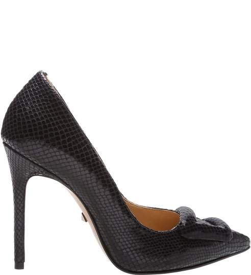 Scarpin Bright Snake Buckle Black