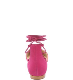 Sapatilha Bico Fino Lace Up True Pink