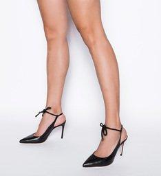 Scarpin Slingback Lace-Up Black