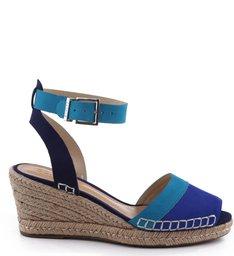 Espadrille Anabela Tricolor Blue