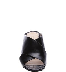 Mule Block Heel Croco Black