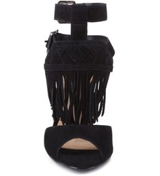 Sandália Ethnic Fringes Black