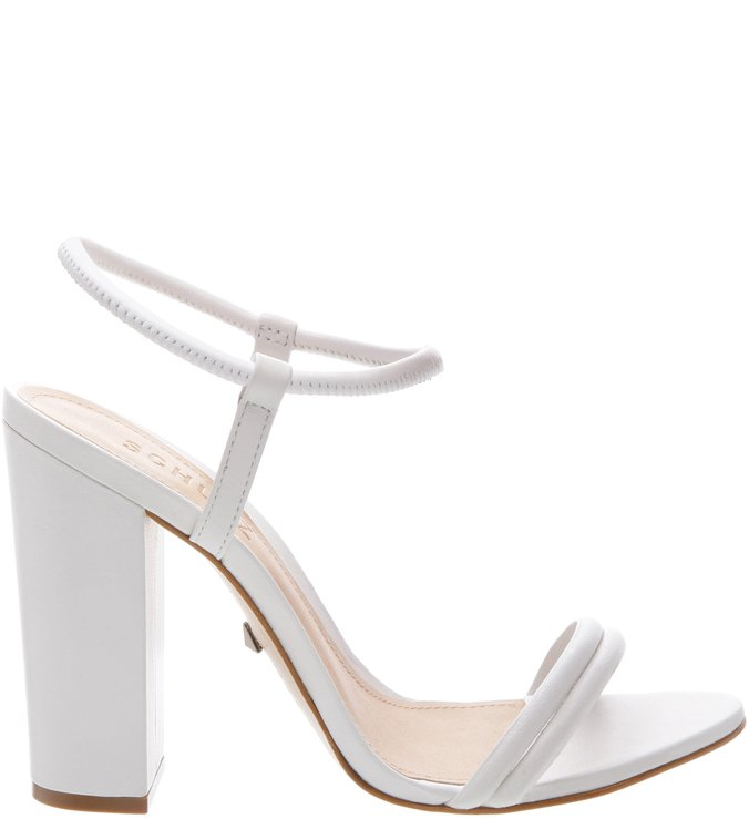 Sandália Salto Bloco Strings White | Schutz
