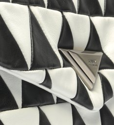Bolsa Tiracolo Bag New 944 Patchwork Preto e Branco
