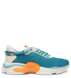 Sneaker Rush Cyan x Orange Neon