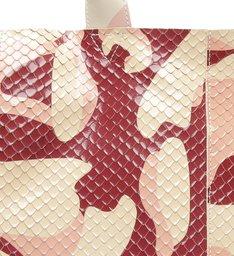 Bolsa Shopping Kimber Camuflada Snake Vermelha