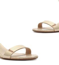 Sandália Minimal Block Heel Shine Platina